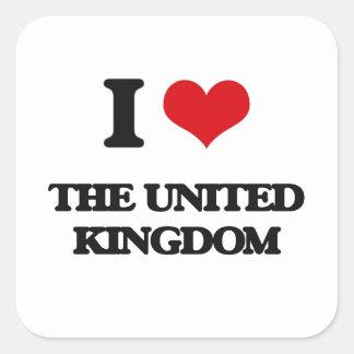 I love The United Kingdom Square Sticker