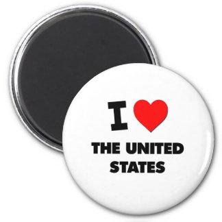 I love The United States Refrigerator Magnet