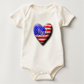 I love The USA Baby Bodysuit