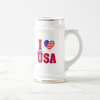 I Love the USA Beer Stein