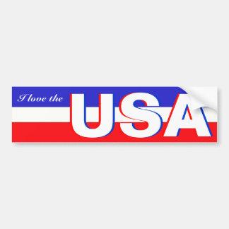 I love the USA Car Bumper Sticker