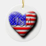 I love The USA Christmas Ornaments