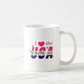I Love The USA Coffee Mug