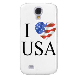 I Love the USA Flag Heart Samsung Galaxy S4 Cover