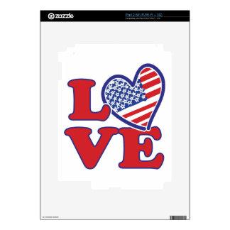 I Love the USA Heart iPad 2 Decals