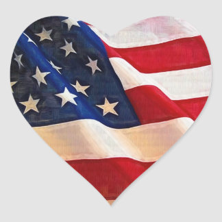 I love the USA Heart Sticker