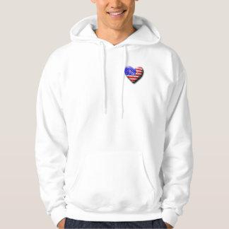 I love The USA Hooded Sweatshirt
