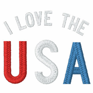 I Love the USA  Ladies Petite T-Shirt