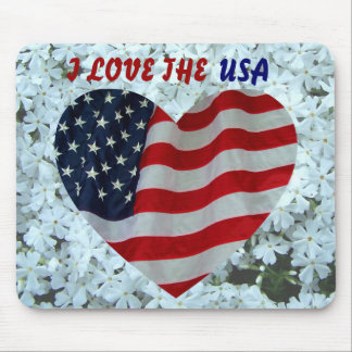 I LOVE THE USA -MOUSEPAD MOUSE PAD