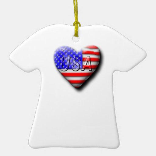 I love The USA Ornaments