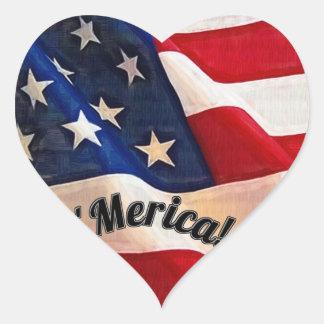 I love the USA Patriotic Stars Stripes Merica Heart Stickers