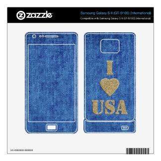 I Love the USA Samsung Galaxy S II Skin