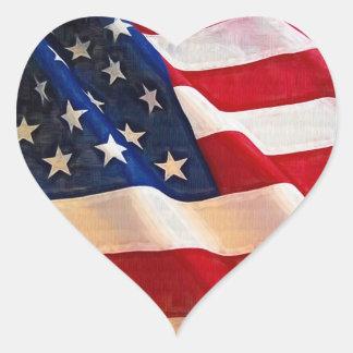 I love the USA Round Sticker