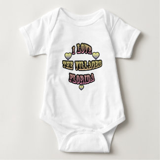 I Love The Villages Florida Baby Bodysuit