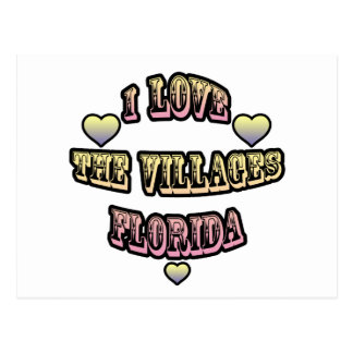 I Love The Villages Florida Postcard