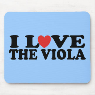 I Love The Viola Gift Mouse Pad