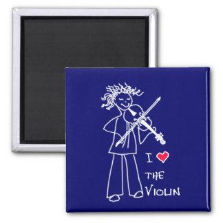 I Love The Violin Blue Magnet for the Violin Site Magnets