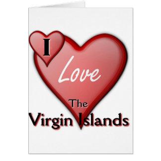 I Love The Virgin Islands Card