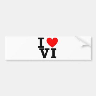 I Love the Virgin Islands Design Bumper Sticker