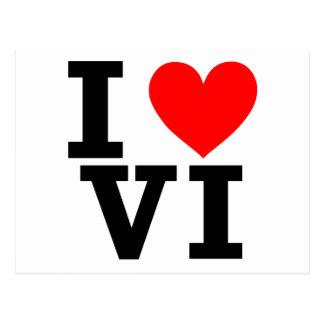 I Love the Virgin Islands Design Postcard