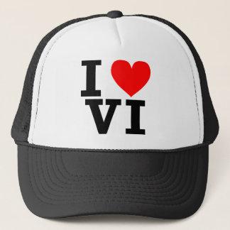 I Love the Virgin Islands Design Trucker Hat