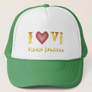 I Love The Virgin Islands Hat