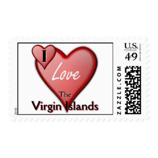 I Love The Virgin Islands Postage