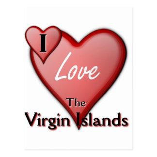 I Love The Virgin Islands Postcard