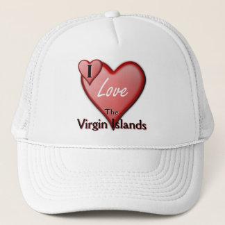 I Love The Virgin Islands Trucker Hat