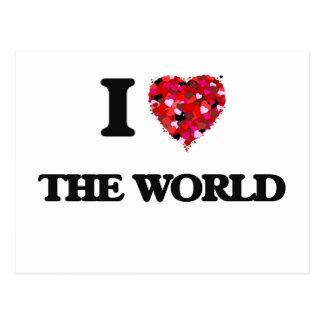 I love The World Postcard