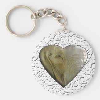 I Love the Zoo: Elephant Heart Key Chains