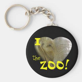 I Love the Zoo: Elephant Heart Keychain