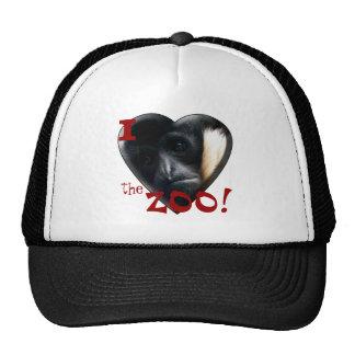 I Love the Zoo: Gibbon Heart Hats