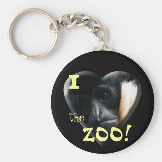 I Love the Zoo:Gibbon Heart Keychains