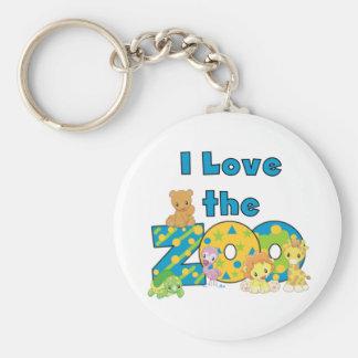 I Love the Zoo Keychain