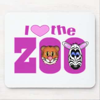 I Love the Zoo Mousepad