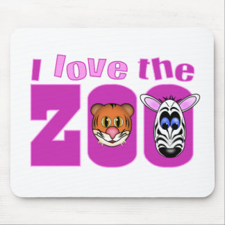 I Love the Zoo Mouse Pads