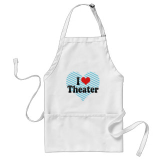I Love Theater Adult Apron
