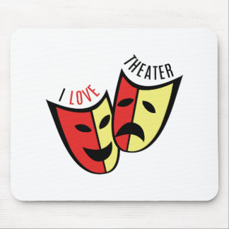 I Love Theater Mouse Pad