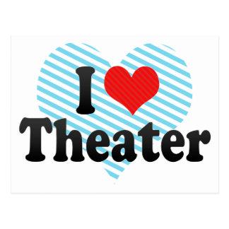 I Love Theater Postcard