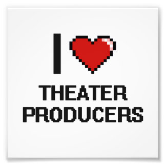 I love Theater Producers Photo Print