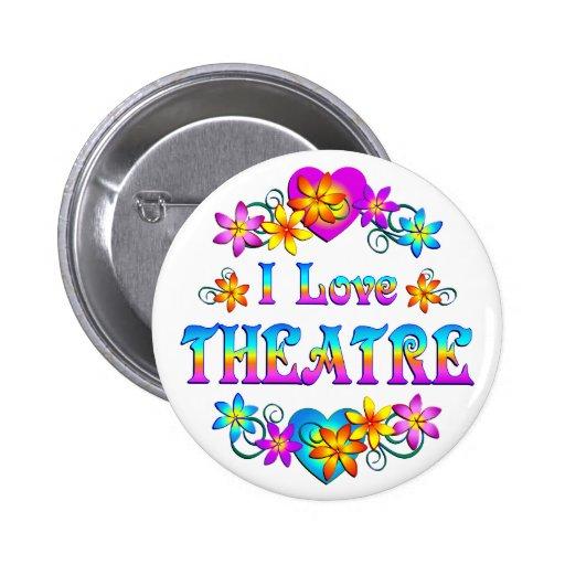 I Love Theatre 2 Inch Round Button