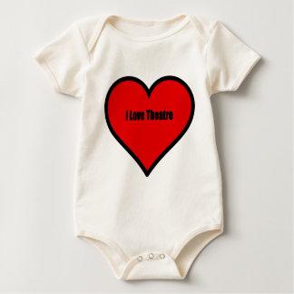I Love Theatre Baby Bodysuit