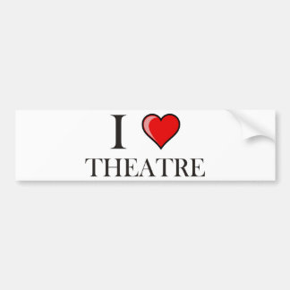 I Love Theatre Bumper Sticker