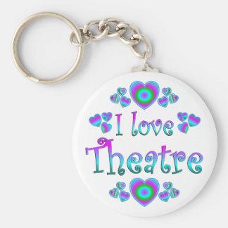 I Love Theatre Key Chain