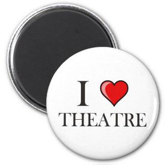 I Love Theatre 2 Inch Round Magnet
