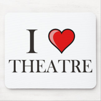I Love Theatre Mouse Pad