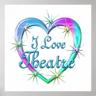 I Love Theatre Print