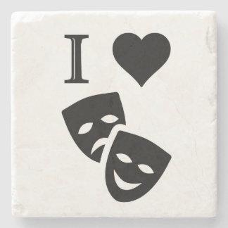 I Love Theatre Stone Coaster
