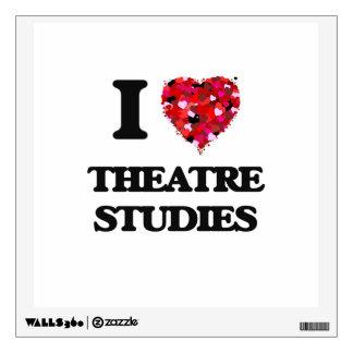 I Love Theatre Studies Room Stickers